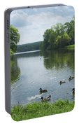 Pond And Ducks Portable Battery Charger