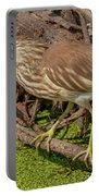 Pond Heron With Fish  Portable Battery Charger