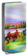 Pond Hockey Blue Skies Portable Battery Charger