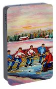 Pond Hockey Warm Day Portable Battery Charger