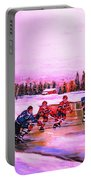 Pond Hockey Warm Skies Portable Battery Charger