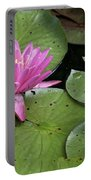 Pond Lily And Bud Portable Battery Charger