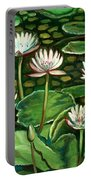 Pond Of Petals Portable Battery Charger