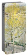 Pont Royal Paris Portable Battery Charger by Childe Hassam