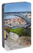 Ponte Luiz I Between Porto And Gaia In Portugal Portable Battery Charger