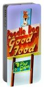 Poodle Dog Diner Portable Battery Charger