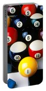 Pool Balls On Tiles Portable Battery Charger by Garry Gay