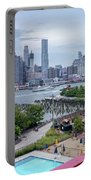 Pool With A View, Brooklyn, New York #130706 Portable Battery Charger