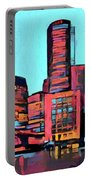 Pop Art Boston Skyline Portable Battery Charger