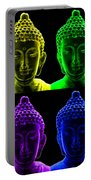 Pop Art Buddha  Portable Battery Charger by Fabrizio Troiani