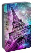 Pop Art Eiffel Tower Portable Battery Charger