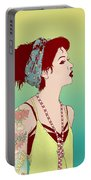 Pop Art Lady Portable Battery Charger