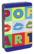 Pop Art Lips Portable Battery Charger
