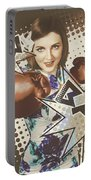 Pop Art Photo Illustration. Cartoon Comic Boxer Portable Battery Charger by Jorgo Photography - Wall Art Gallery