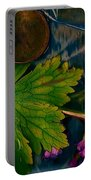 Popart With Fantasy Flowers Portable Battery Charger