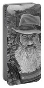 Popcorn Sutton - Black And White - Rocket Fuel Portable Battery Charger