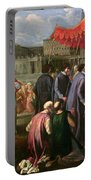 Pope Clement Xi In A Procession In St. Peter's Square In Rome Portable Battery Charger