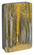 Poplar Tree Farm In Boardman Oregon In Fall Closeup Portable Battery Charger