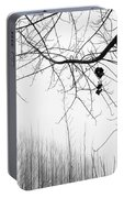 Poplars Foggy Morning Portable Battery Charger