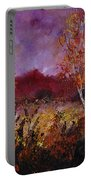 Poplars In Autumn  Portable Battery Charger