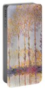 Poplars On The Banks Of The Epte Portable Battery Charger