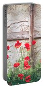 Poppies Against Wall Portable Battery Charger