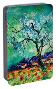 Poppies And Appletrees In Blossom Portable Battery Charger