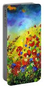 Poppies And Blue Bells Portable Battery Charger