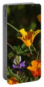 Poppies And Bluebells Portable Battery Charger