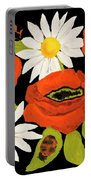 Poppies And Camomiles, Oil Painting Portable Battery Charger