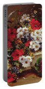 Poppies And Daisies  Portable Battery Charger