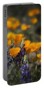 Poppies And Lupines  Portable Battery Charger