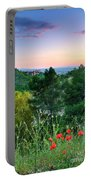 Poppies And The Alhambra Palace Portable Battery Charger