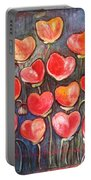 Poppies Are Hearts Of Love We Can Give Away Portable Battery Charger