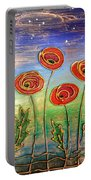 Poppies At Night Portable Battery Charger