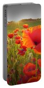 Poppies At Sunset Portable Battery Charger