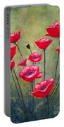Poppies Field Portable Battery Charger