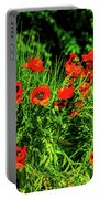 Poppies Flowerbed Portable Battery Charger