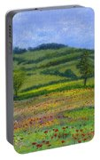 Red Poppies In Cribyn Fields Portable Battery Charger