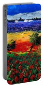 Poppies In Provence Portable Battery Charger