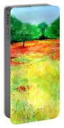 Poppies In The Almond Grove Portable Battery Charger
