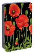Poppies In The Starry Night Portable Battery Charger