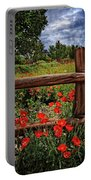 Poppies In The Texas Hill Country Portable Battery Charger