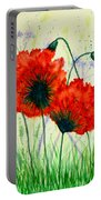 Poppies In The Wild Portable Battery Charger