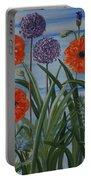 Poppies, Iris, Giant Alium Portable Battery Charger