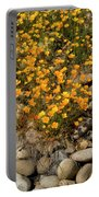 Poppies On The Rocks Portable Battery Charger