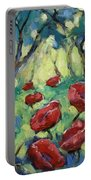 Poppies Through The Forest Portable Battery Charger