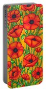 Poppies Under The Tuscan Sun Portable Battery Charger