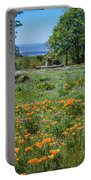 Poppies With A View At Oak Glen Portable Battery Charger