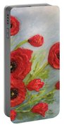 Poppin Poppies Portable Battery Charger